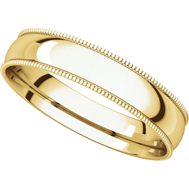 10kt Yellow 4.5mm Band Size 7
