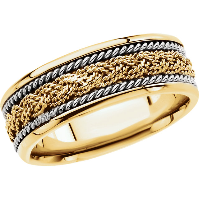 Comfort-Fit Hand-Woven Two-Tone Band