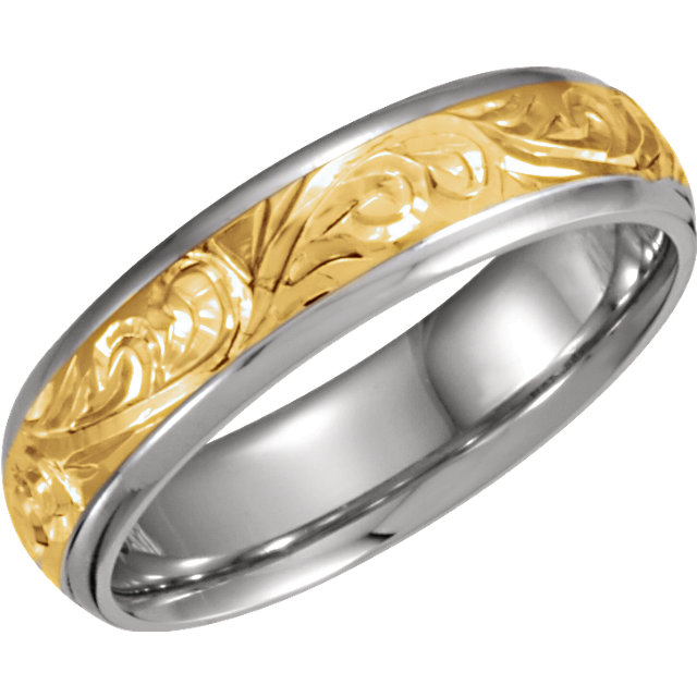 Hand-Engraved Two-Tone Band