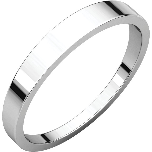 Palladium 3mm Flat Tapered Band