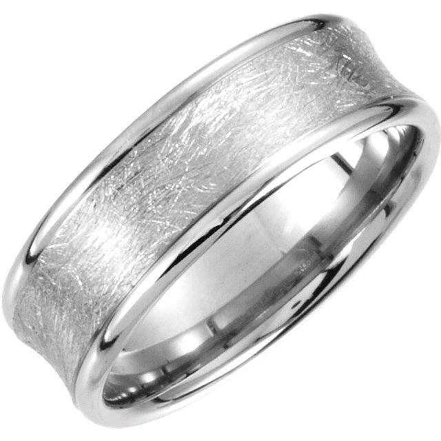 Comfort-Fit Carved Wire Swirl Finish Band