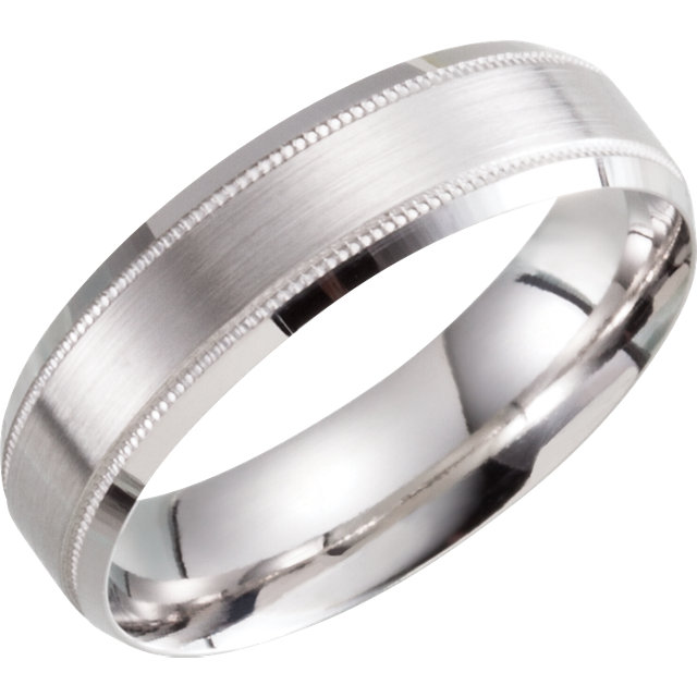 Beveled Edge Lightweight Band