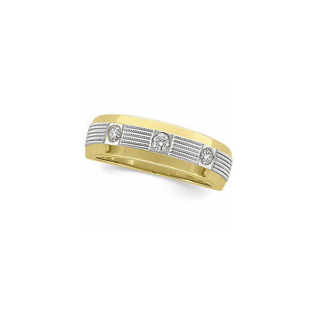 1/4 CTW Two Tone Diamond Duo Band