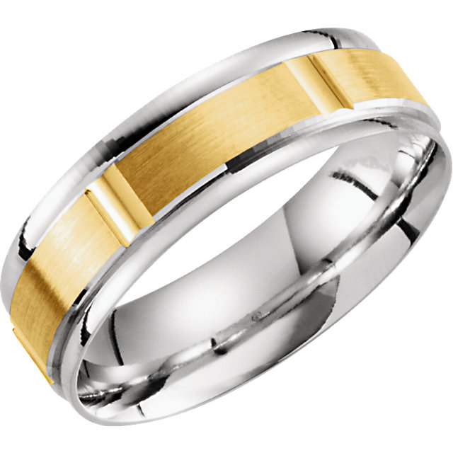 Comfort-Fit Lightweight Two-Tone Band
