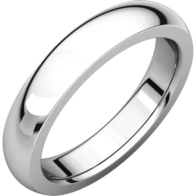 14kt White 2mm Hand-Engraved Comfort Fit Band Size 11