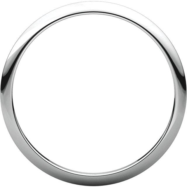 10kt Rose 1.5mm Half Round Band