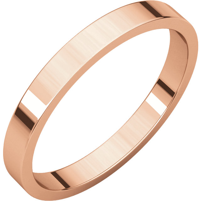 10kt Rose 2mm Flat Band