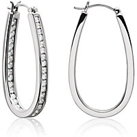 Channel Set Inside/Outside Diamond Hoop Earrings